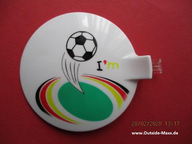 "4 x ClipClap-Deckel "" I like Fußball """